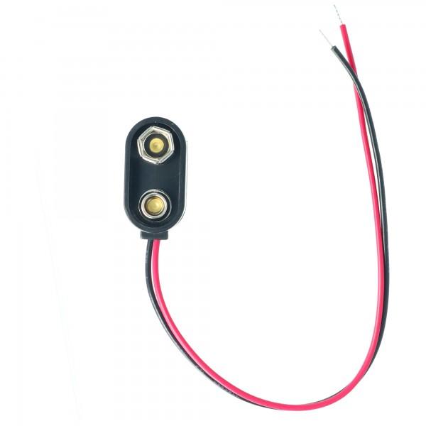 AccuCell Batterieclip für 9 V Block I-Form