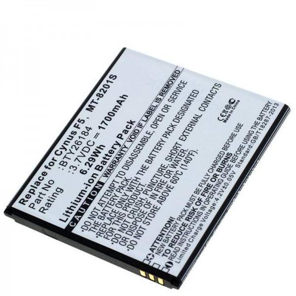 Akku passend für den Mobistel Cynus F5 Akku MT-8201B, MT-8201S, MT-8201W, 1700mAh