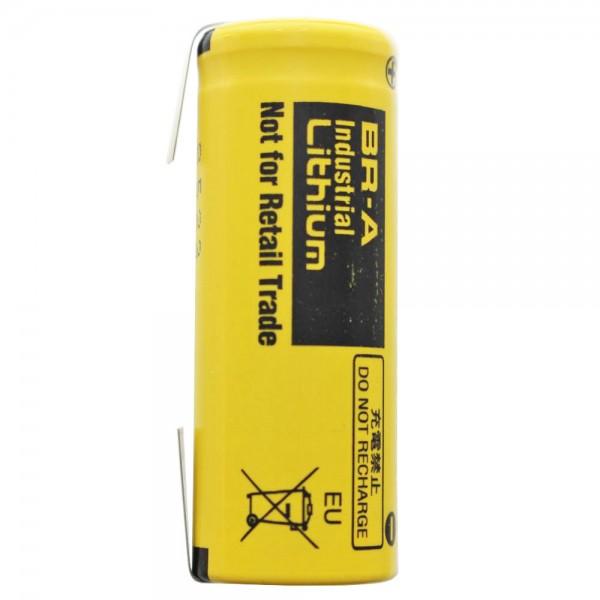 BR-A Panasonic Lithium Batterie mit Lötfahne in U-Form 3,0 Volt max. 1800mAh