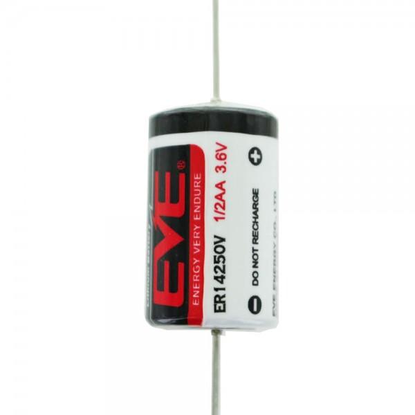 EVE ER14250P Lithium Batterie mit axialem Drahtanschluss