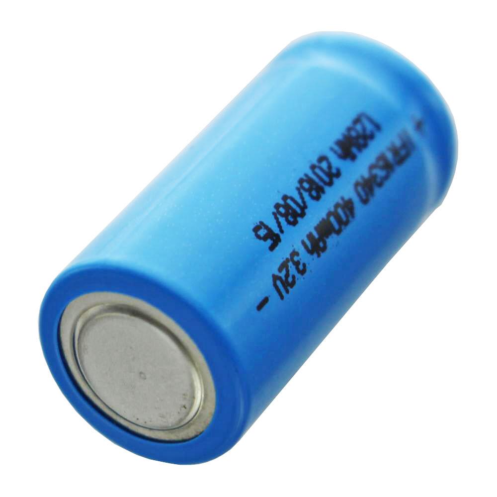 IFR 16340 400mAh 3,2V LiFePo4 Akku Button Top ungeschützt