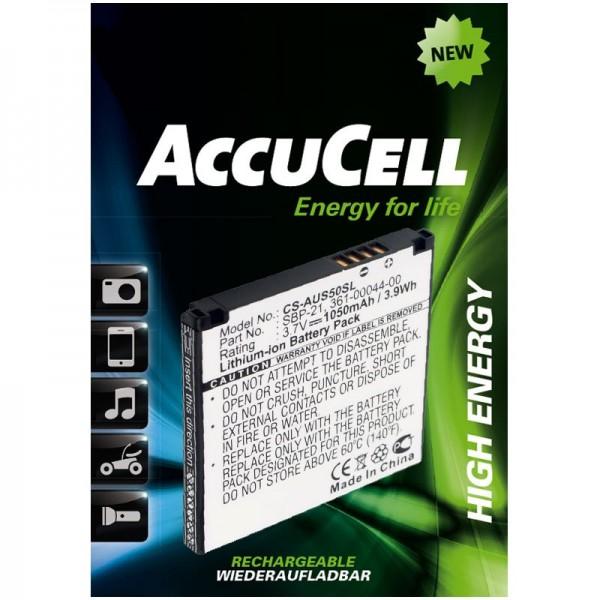 AccuCell Akku passend für Garmin-Asus Nüvifone A50, Garmin Fone