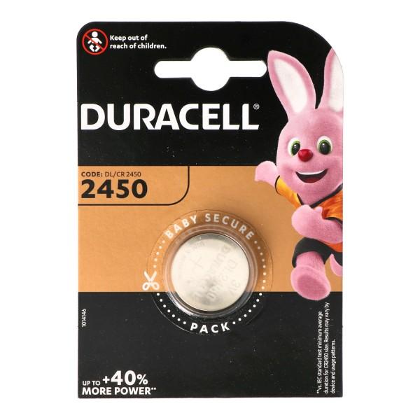 Duracell DL2450 Lithium Batterie IEC CR2450, 3 Volt 486mAh