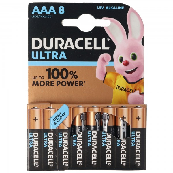 Duracell Ultra Power MX2400 Micro AAA 8er Pack LR03