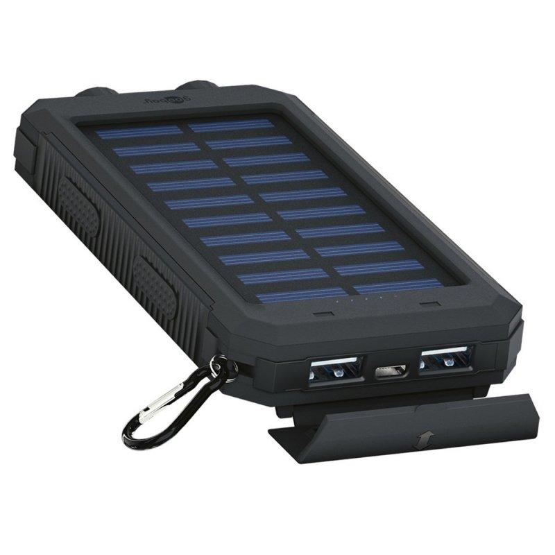outdoor powerbank 8000mah mit solarpanel und. Black Bedroom Furniture Sets. Home Design Ideas