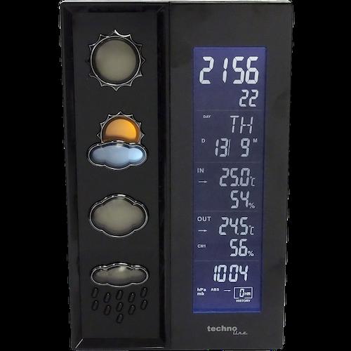WS 6650 - Moderne Wetterstation mit farbig leuchtenden Wettersymbolen