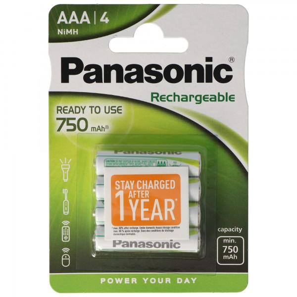 Panasonic Evolta Akku Micro AAA Ready to use 4er Pack HHR-4MVE/4BC