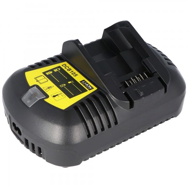 Schnell-Ladegerät passend für den Dewalt XR 18V Li-Ion Akku 12 Volt bis 20 Volt