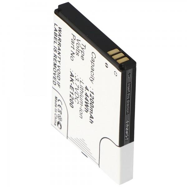 AccuCell Akku passend für Emporia TELME E1000, E1200, C121, AK-E