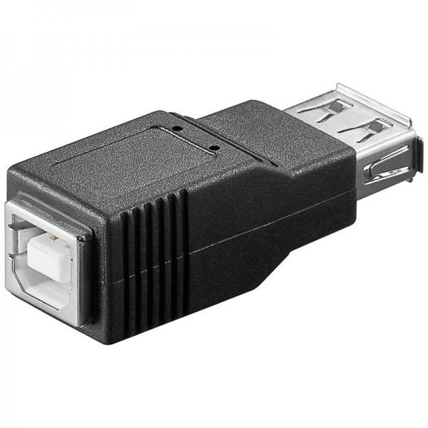 USB 2.0 Hi-Speed Adapter von A Buchse auf B Buchse