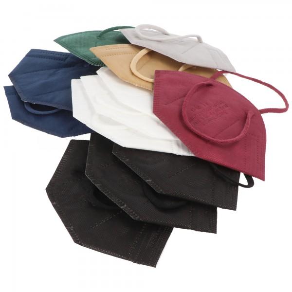 12er Pack FFP2 Masken Bunt für Männer 5-Lagig, zertifiziert nach DIN EN149:2001+A1:2009, partikelfiltrierende Halbmaske, FFP2 Schutzmaske