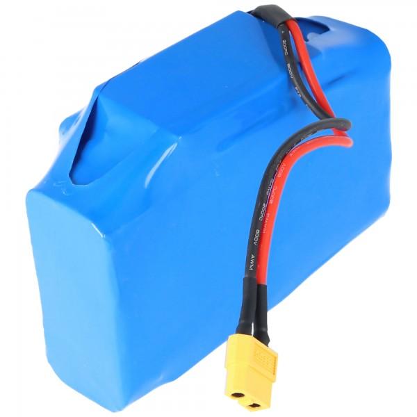Akku passend für Hoverboard 36 Volt Gyropode Hoverboards, Viron, Razor, Caterpillar, 4400mAh, 10S2P/22P-SL088 mit Stecker XT60