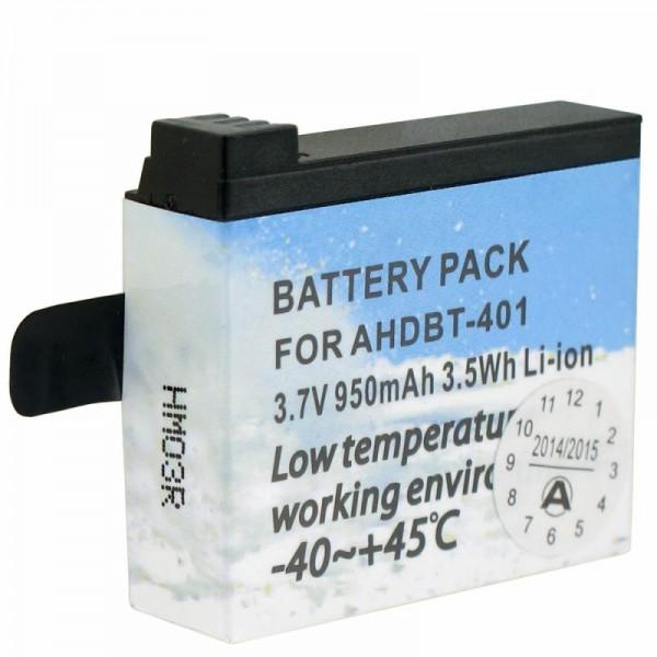 Spezial Akku passend für GoPro Hero 4 Akku AHDBT-401 für geringe Temperaturen -40 bis 45 Grad