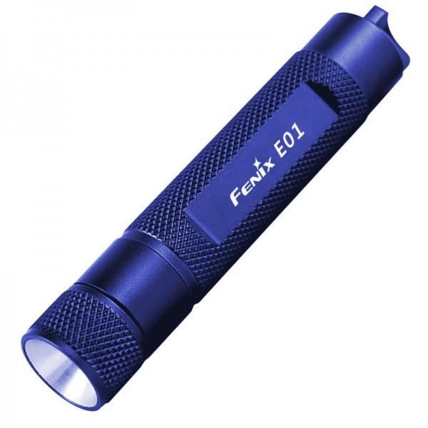 Fenix E01 LED Taschenlampe mit 13 Lumen, dunkelblau ideal für den Schlüsselbund