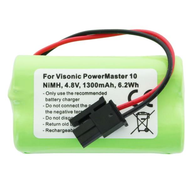 2000mAh Akku passend für Visonic PowerMaster 10 Akku-NiMH GP130AAM4YMX 4,8 Volt max. 9,6Wh