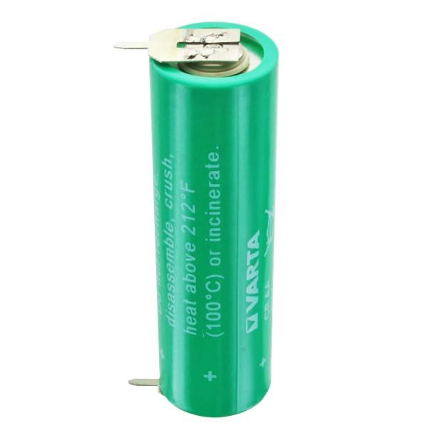 Varta CR AA Lithium Batterie 6117, UL MH 13654 (N) mit 1er Print Kontakt
