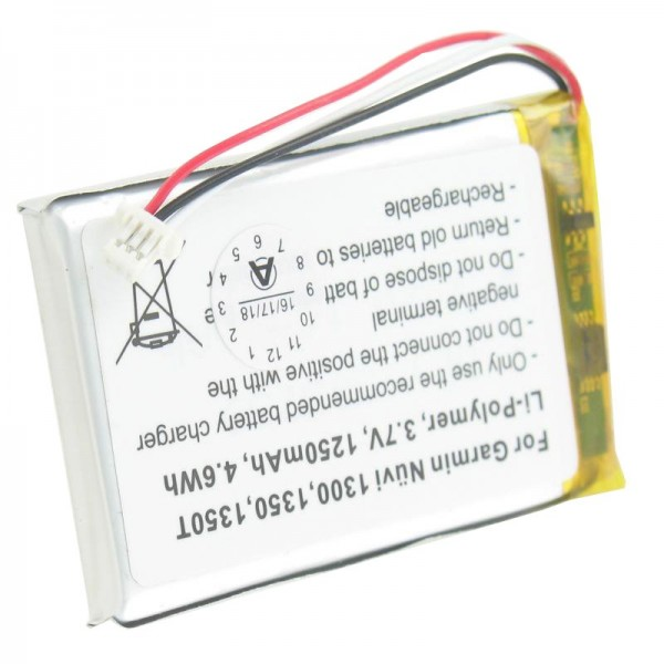 Akku passend für Garmin Nuvi 1300, 1350, 1350T, 1370, 1370T