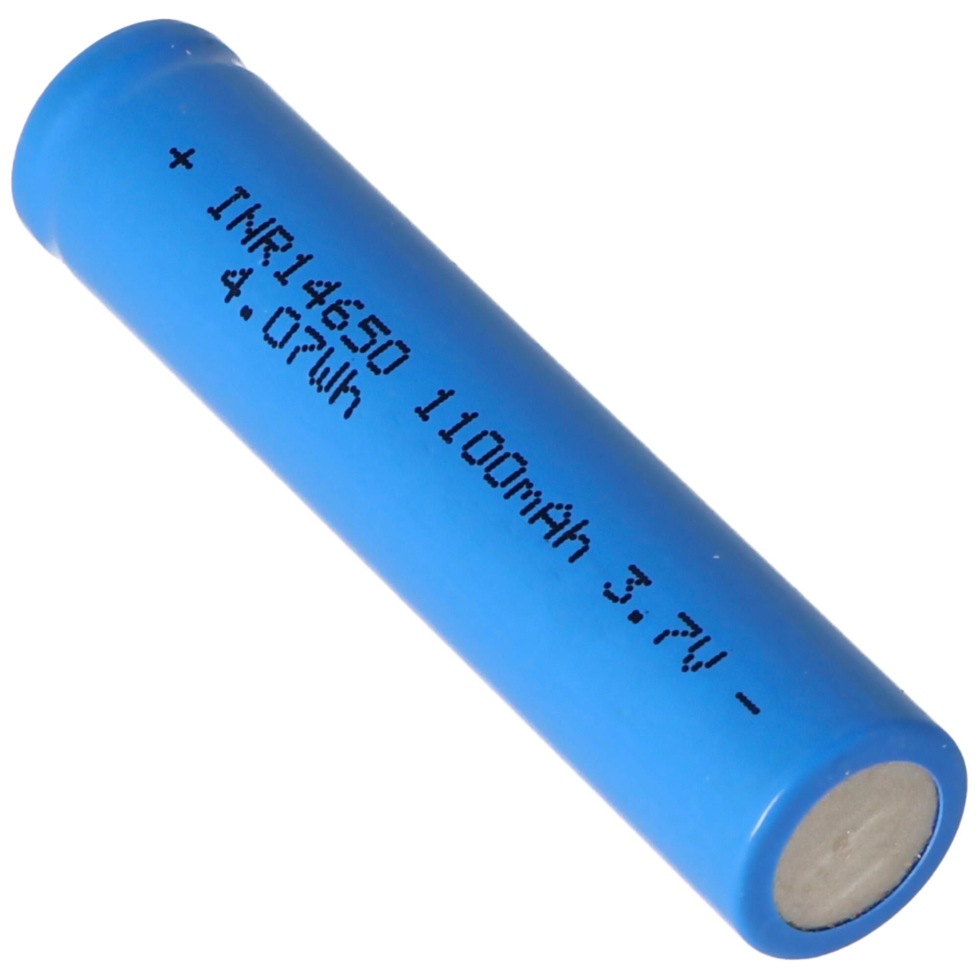 INR 14650 1100mAh 3,7V Li Ion Akku ungeschützt | Li ion