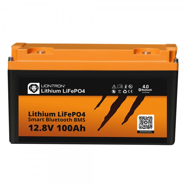 LIONTRON LiFePO4 Akku Smart BMS 12,8V, 100Ah - Vollwertiger Ersatz für 12 Volt Blei-Akkus