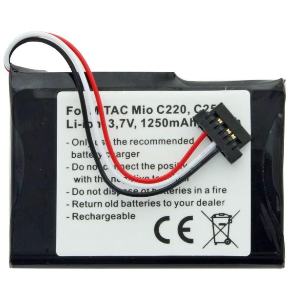 AccuCell Akku passend für Mitac Mio C250 Akku E4MT081202B12