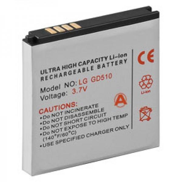 Akku passend für LG GD510 Pop, GD880 Mini, LGIP-550N SBPL0100001