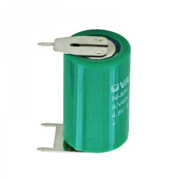 Varta 4/V40H NiMH battery 55604, MH 13654 mit 3-er Print -/++
