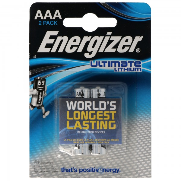Energizer L92 Lithium Batterie AAA, 1,5 Volt 1260mAh 2er Blister