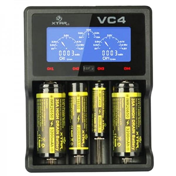 4-Kanal Li-Ion und NiMH LCD Schnellladegerät mit Einzelkanalsterung für 18650, AA, AAA, C und D