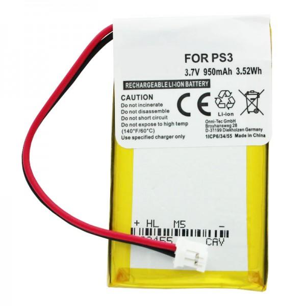 AccuCell Akku passend für Sony PS3 SIXAXIS Wireless-Controller Akku LIP1859, CS-SP130SL, LIS1359, LIP1472