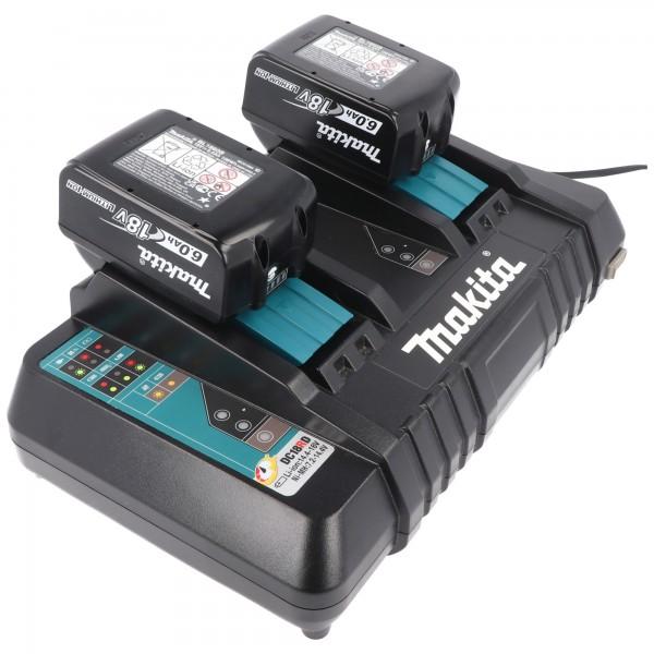 Makita Power Source Kit Li 18V mit 2x BL1860B Akku 6,0Ah + DC18RD Doppelladegerät 199484-8