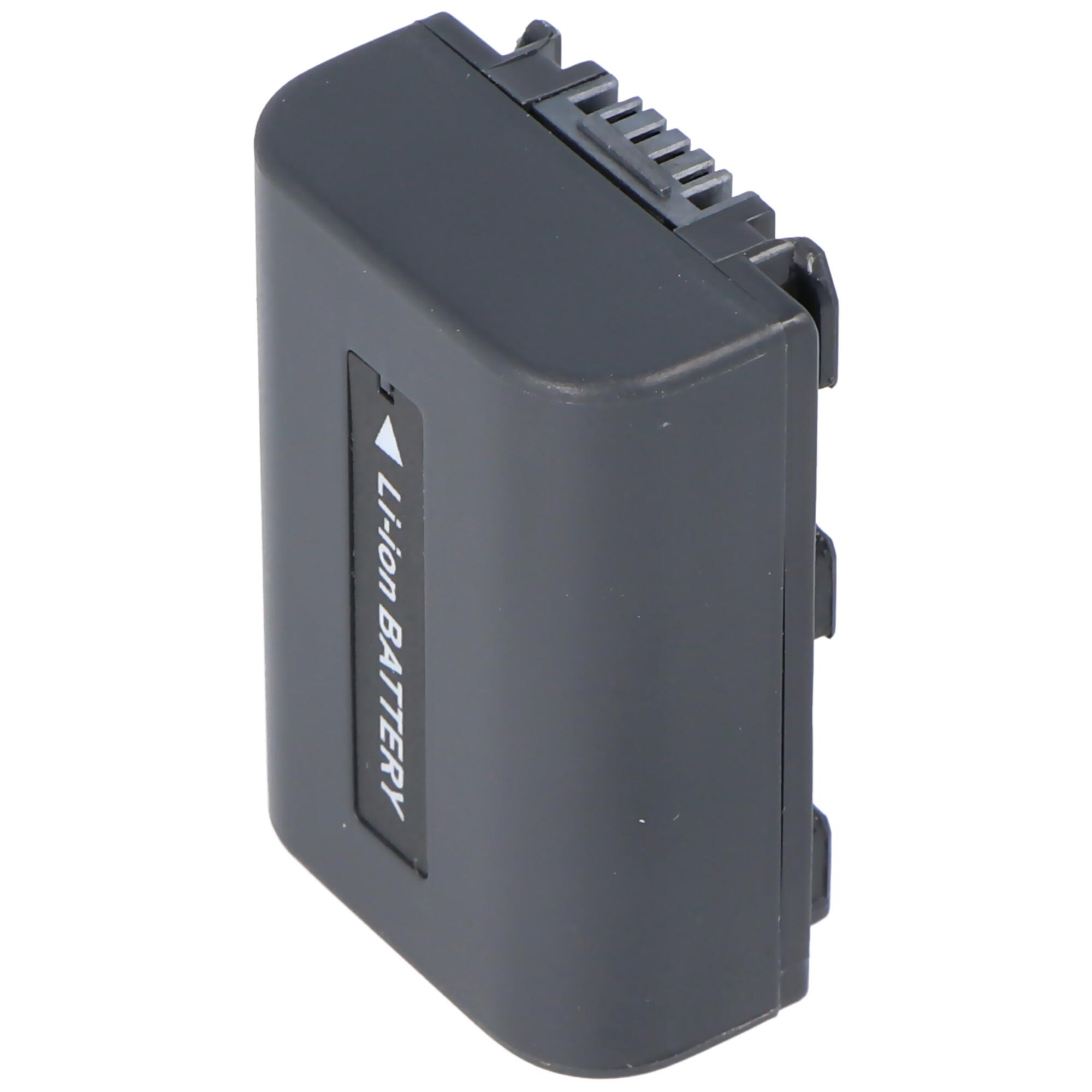 accucell schnell ladegerät passend für sony np fm50, fm70