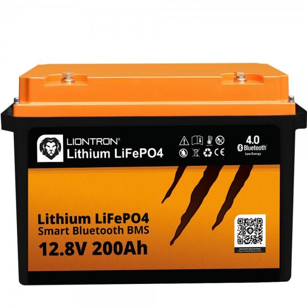 LIONTRON LiFePO4 Akku Smart BMS 12,8V, 200Ah - Vollwertiger Ersatz für 12 Volt Blei-Akkus