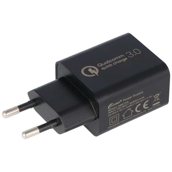 Ultra schnelles laden, USB-Netzteil QC3.0 5V 3A, 9V 2A und 12V 1,5A DBS15Q Quick Charge 18W