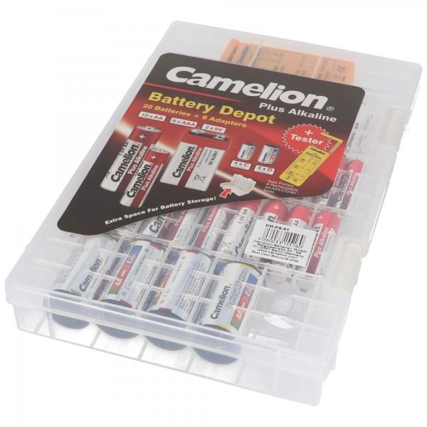Alkaline Familienbox im Kunststoffkoffer, Batteriebox 29 teilig