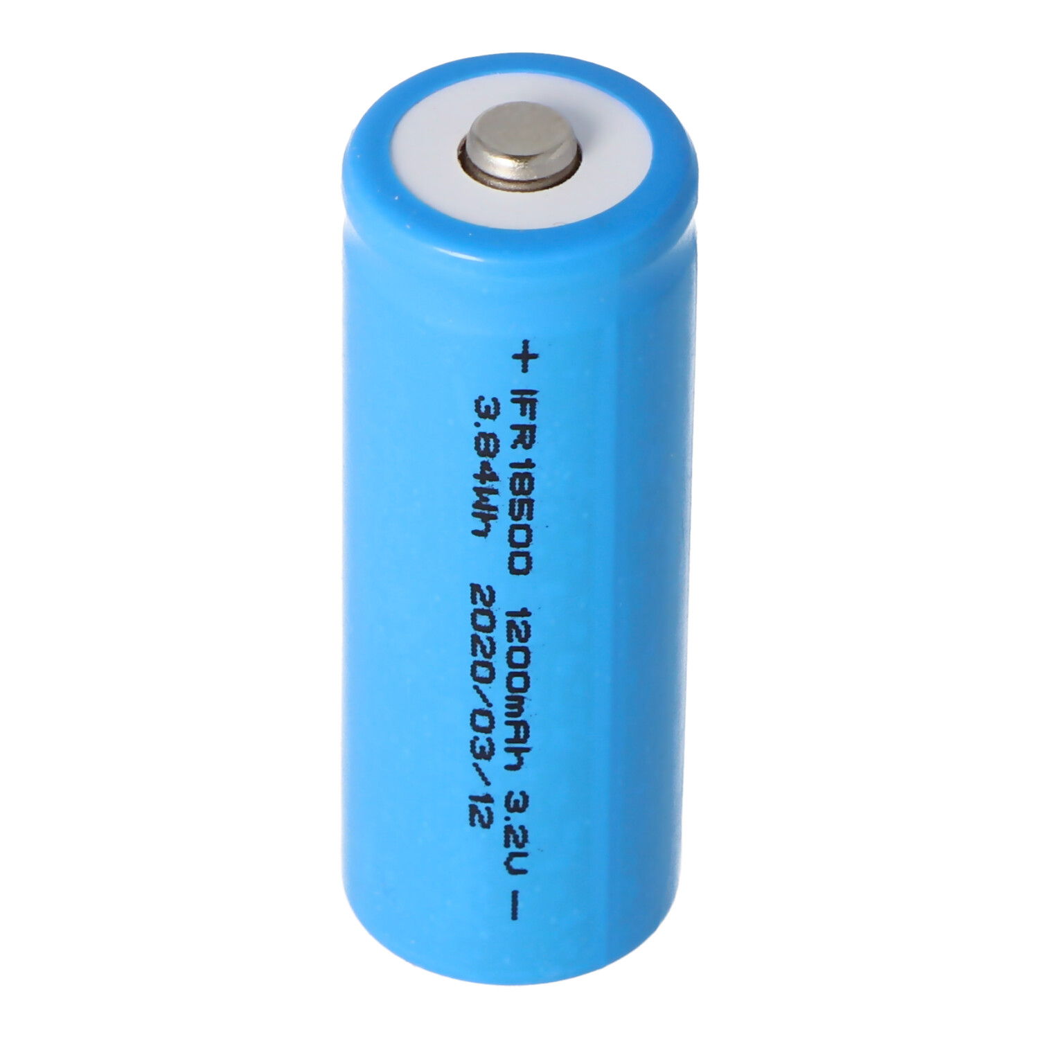 IFR 18500 1200mAh 3,2V LiFePo4 Akku Button Top mit Kopf