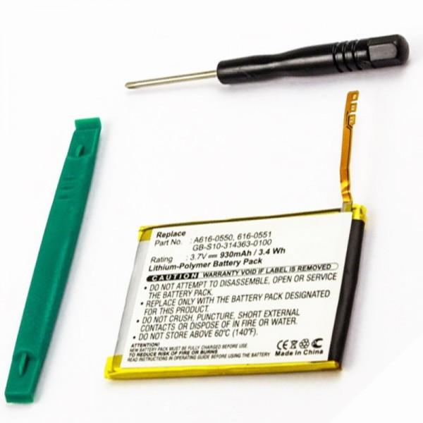 Akku passend für Apple iPod Touch 4th Generation 616-0551, 616-0550