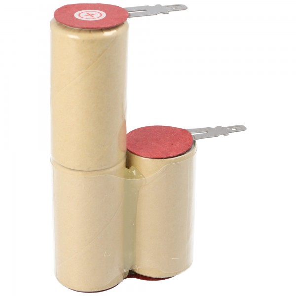 2000mAh NiMH Akku passend für Kenwood FG155 Käsereibe Akku mit 4,8mm Faston Steckkontakten