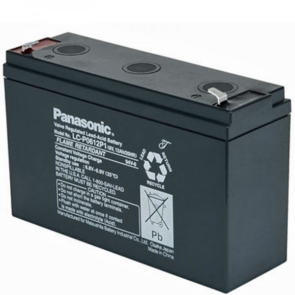 Panasonic LC-R0612P1 PB Blei Akku 6 Volt, 12Ah