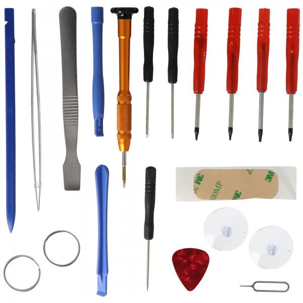 Werkzeug Set 17fach passend für iPhone 4, 4S, 5, 5C, 5S für Akku Wechsel