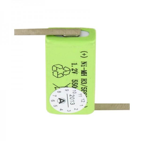 Akku passend für Sanyo HF-C1U Akku NiMH mit Lötfahne Z-Form