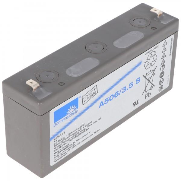 Sonnenschein Dryfit A506/3.5S Blei Akku, Anschluss 4,8mm