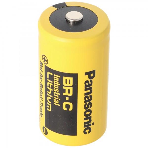BR-C Panasonic Lithium Batterie Baby ohne Lötfahne, 3,0 Volt BR26500