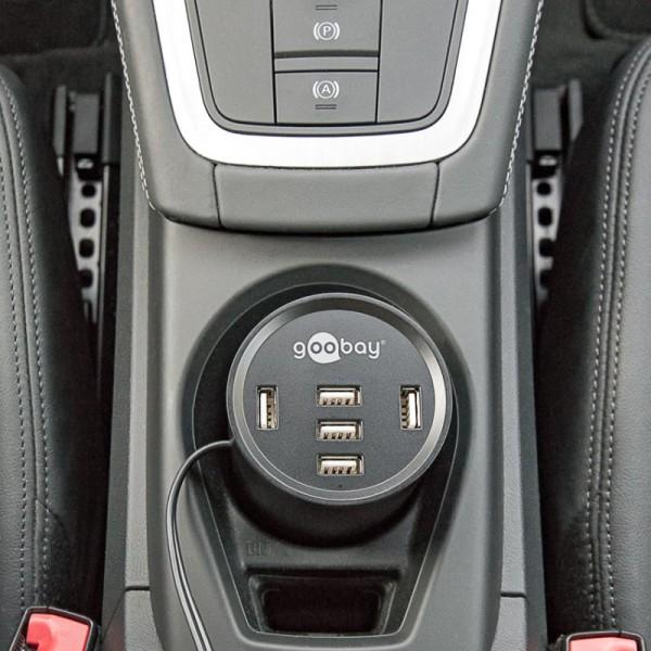 USB-Ladegerät Cup Holder Power Auto-Becherhalter-Ladegerät mit 5 smarten USB-Ports
