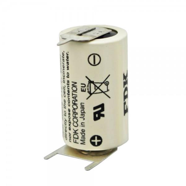 Sanyo Lithium Batterie CR14250 SE 1/2AA, IEC CR14250, 3er Print, Rastermaß ca. 10mm
