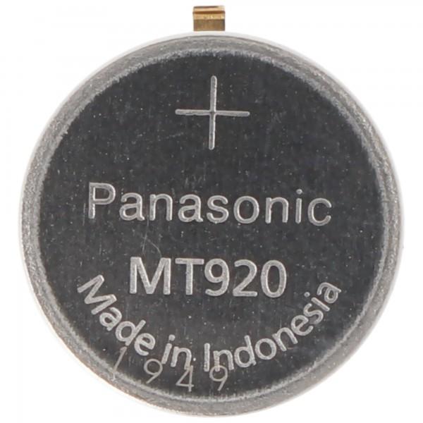 Panasonic Citizen Kondensator Akku 295-40, 295-56, 295-5600, MT920 ideal passend für Citizen Kaliber E767M, Solar Uhren, mit Lötfahne, 1,5V