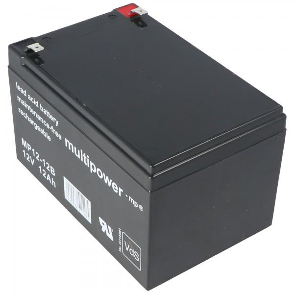 Multipower MP12-12B Blei Akku 12 Volt 12Ah