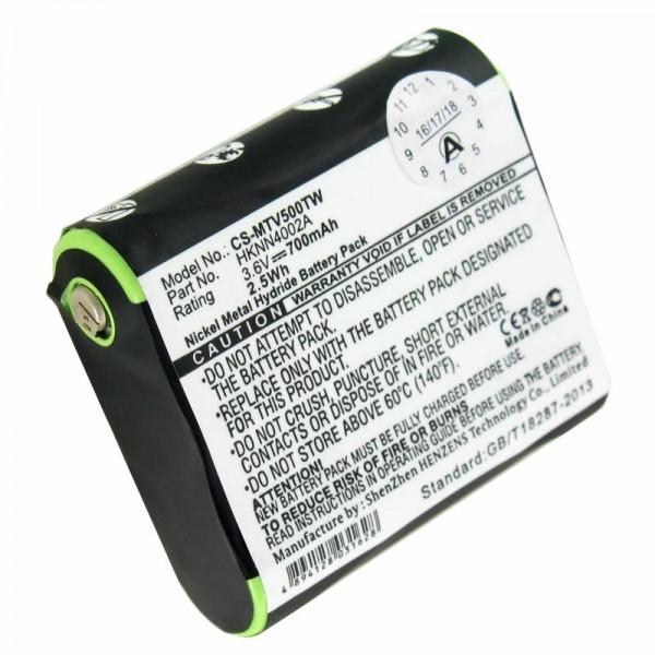 Akku passend für Motorola HKNN4002A Talkabout FV500, T9500 3,6 Volt 700mAh