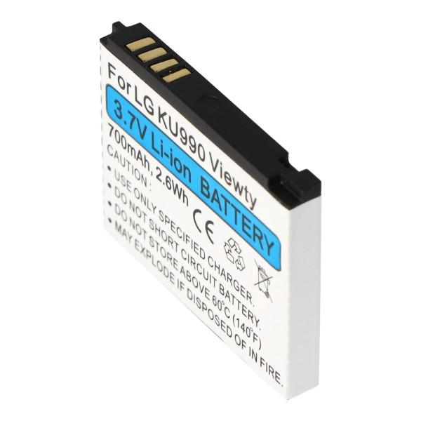 AccuCell Akku passend für LG Shine HB620T, KE998, KU990, CU915