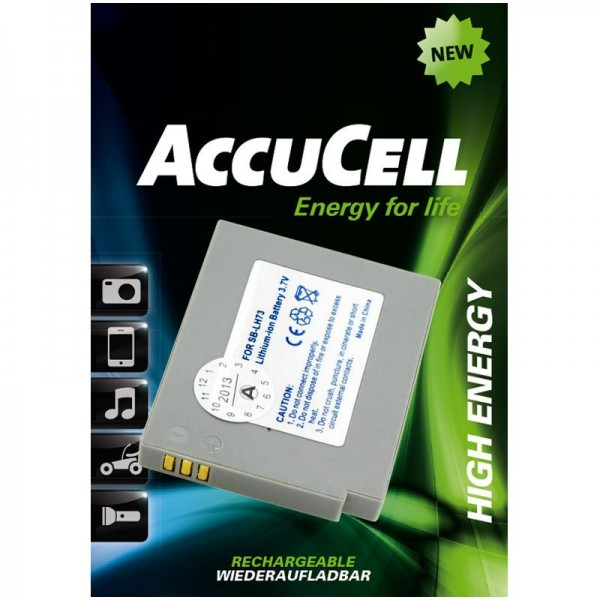 AccuCell Akku passend für Samsung SB-LH73 Akku für Digital Kamera Akku