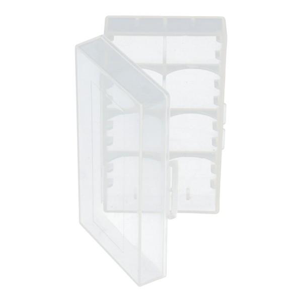 Universal AccuSafe Aufbewahrungsbox für 1 bis zu 2 Stück 18650 Li-Ion Akku